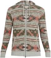 Faherty Thunderbird Aztec hooded cotton sweatshirt