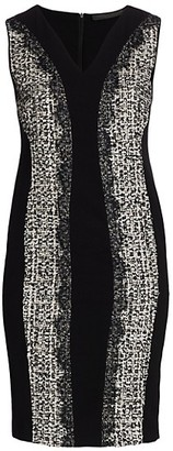 Marina Rinaldi, Plus Size Tweed Bodycon Sleeveless Dress