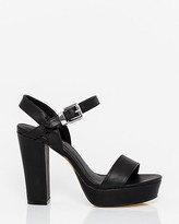 Le Château Leather-Like Platform Sandal