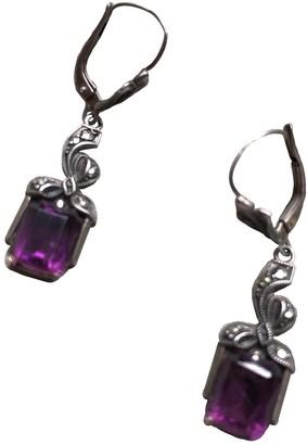 Non Signã© / Unsigned AmAthyste Purple Silver Earrings