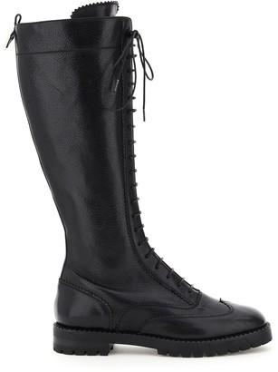 L'Autre Chose Knee-High Round-Toe Boots