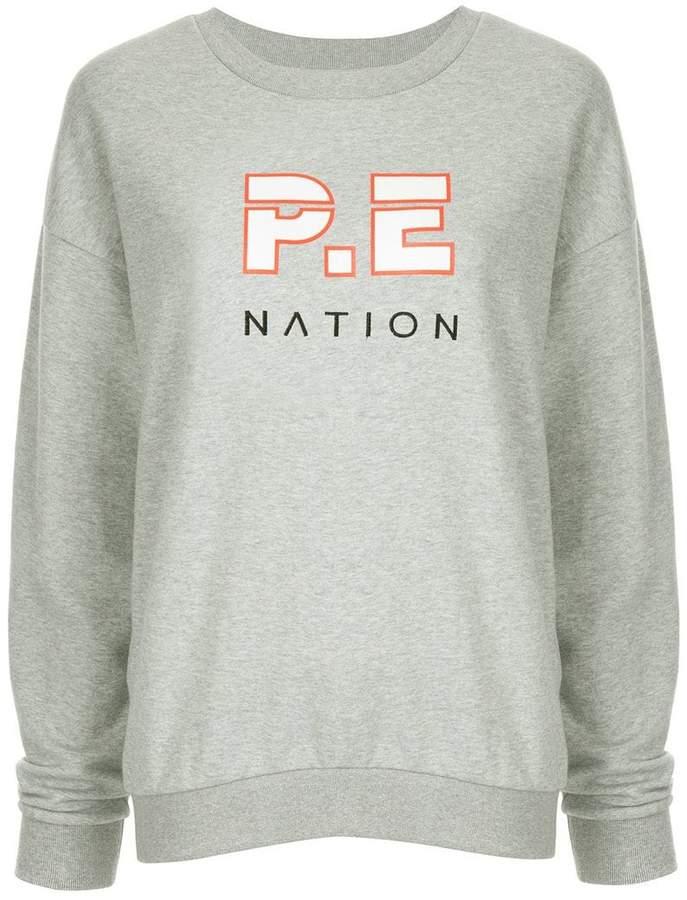P.E Nation Heads Up printed sweatshirt
