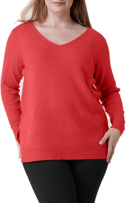 Marée Pour Toi V-Neck Wool Blend Sweater