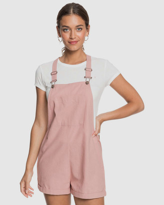 Roxy Womens Somebody New Linen Pinafore Playsuit