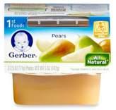 Gerber 1st Foods 2-Pack 2.5 oz. Baby Food Pears