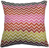 Bed Bath & Beyond Zig Zag Embroidered Square Throw Pillow in Multicolor