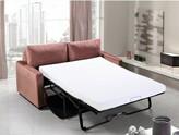 """Deantown Velvet 70"""" Square Arms Sofa Bed Latitude Run Fabric: Rose"""