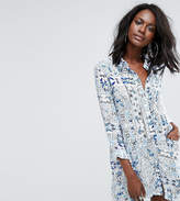 Missguided Porcelain Print Shirt Dress