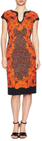 Escada Cotton Printed Knee Length Dress
