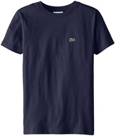 Lacoste Kids S/S Classic Crewneck Jersey Tee (Toddler/Little Kids/Big Kids)