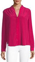 Elie Tahari Bea Long-Sleeve Button-Front Blouse