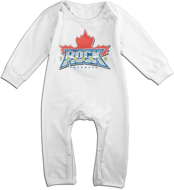 Enlove Toronto Rock Lacrosse BABY Cute Long Sleeves Baby Onesies Bodysuit For Little Kids Size 6 M