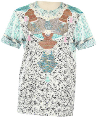 Manish Arora Turquoise Cotton Tops