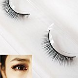 DZT1968 1Pairs Long False 3D Eyelashes Soft backbone Makeup Natural Fake Thick Black Eye Lashes (C)