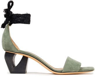The Row Two-tone Suede Sandals