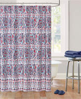 Echo Woodstock Cotton Sateen Floral Paisley Print Shower Curtain Bedding