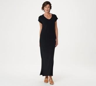 Isaac Mizrahi Live! Petite SOHO Ribbed Maxi Dress with Side Slits