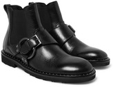 Dolce & Gabbana Leather Harness Boots
