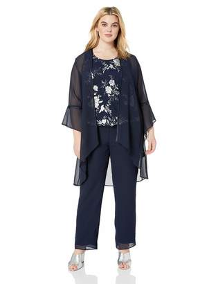 Le Bos Women's Embroidered Bell Sleeve Pant Set