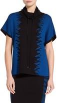 St. John Striped Tubular Jacquard Knit Tunic