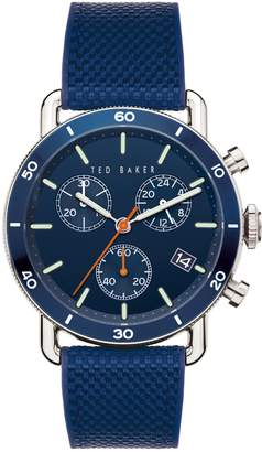 Ted Baker Magarit Stainless Steel Silicone-Strap Chronograph Watch