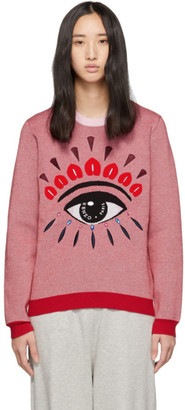 Kenzo Pink and Red Eye Sweater