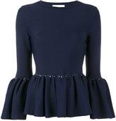 Jonathan Simkhai knitted bell sleeve top - women - Nylon/Viscose - XS