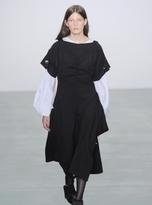 Eudon Choi Kei Dress in Black Virgin Wool