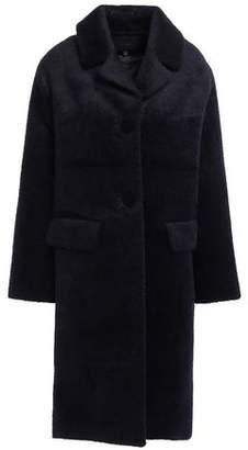 Maje Brushed-woven Coat