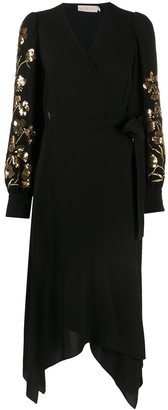 Tory Burch Embroidered Floral Wrap Dress