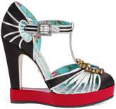 Gucci T-strap pump platform