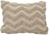 Joseph Abboud Loop Chevron Oblong Throw Pillow in Grey