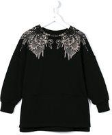 Marcelo Burlon County Of Milan Kids - 'Negative wings' sweatshirt - kids - Cotton/Polyester - 2 yrs