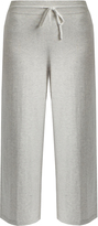 Vince Wide-leg cropped cotton-jersey track pants