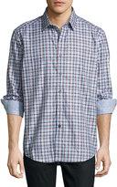 Robert Graham Verdant Oasis Long-Sleeve Sport Shirt, Gray