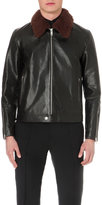 Alexander Mcqueen Shearling Collar Leather Jacket