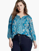 Lucky Brand Turquoise Blouse