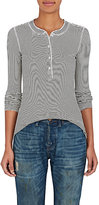 NSF Women's Striped Knit Henley