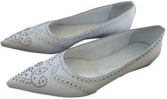 Veronique Branquinho White Leather Flats