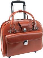 McKlein McKleinUSA Edgebrook 15.4 Leather Wheeled Laptop Briefcase
