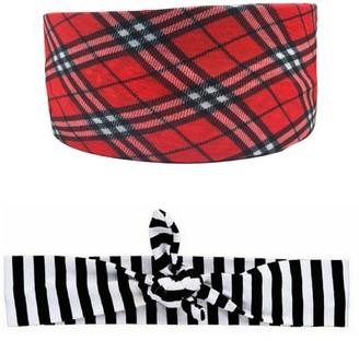 Headbands Of Hope Red Turban & Black Stripe Headbands