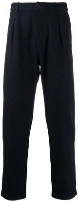 Universal Works cotton pleated trousers