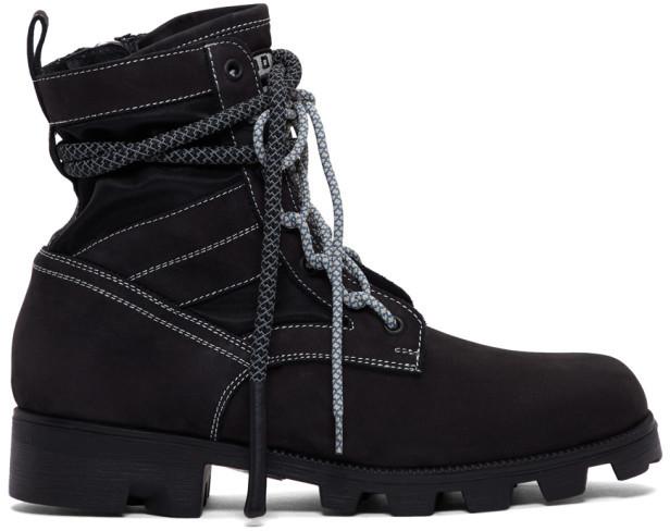 McQ Black Exodus Lace-Up Boots