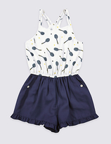 Marks and Spencer Printed Playsuit with StayNEWTM (3-14 Years)