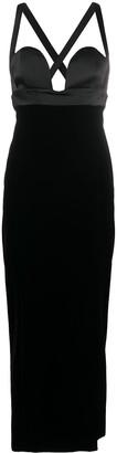 Saint Laurent Side Slit Long Dress