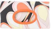 Emilio Pucci Printed Canvas Fold-Over Clutch