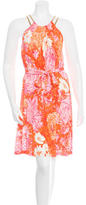 Michael Kors Abstract Print Belted Dress