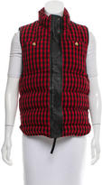 Marni Leather-Trimmed Checkered Vest