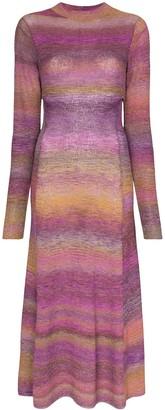 Tibi space dye-print midi dress