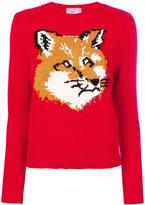 MAISON KITSUNÉ fox pattern jumper - women - Lambs Wool - S